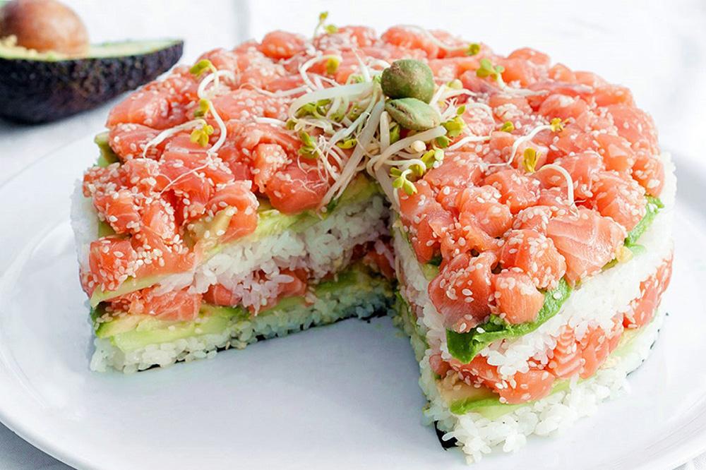 Как приготовить суши торт рецепт